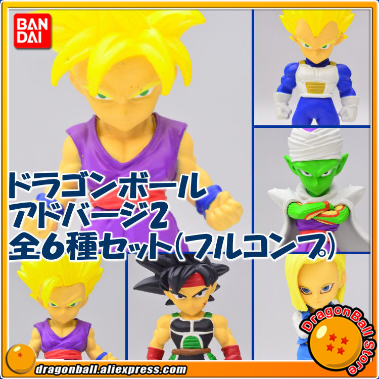 Dragon Ball Z Original BANDAI Tamashii Nations ADVERGE 02 Toy Figure - Full Set 6 Pcs (Vegeta Piccolo No.18 Barduck Gohan) 100% original bandai tamashii nations buddies no 015 collection figure vegeta from dragon ball z