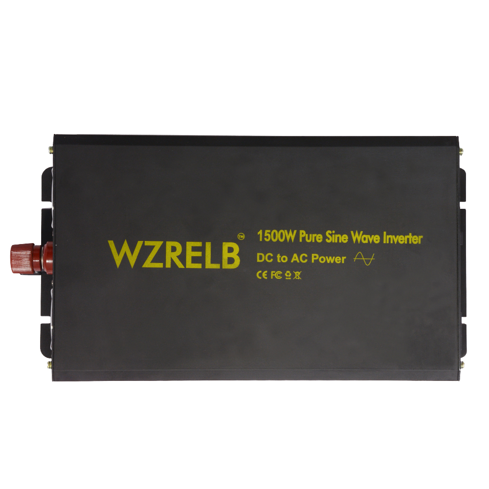 1500W Pure Sine Wave Solar Power Home Car Inverter,DC to AC Generator 12V 24V 36V to 110V 220V 240V Solar Inverter 24V 220V