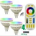 4 w mi luz diodo emissor de luz da lâmpada do bulbo dimmable mr16 ac/DC12V RGB CCT Spotlight Interior Decoração + 2.4G RF LEVOU Remoto controle