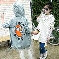 2017 Новая Мода Весна Девушки Пальто С Капюшоном Корейский Досуг Личность Пальто Long Deisgn Кардиган Куртки