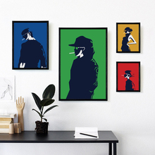 Bianche Wall Fashion Trend of Men and Women Simple Decoration Canvas Painting Art Print Poster Picture Paintings Home Decor