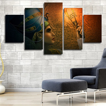 Modern Painting Wall Art Home Frame HD Printed 5 Panel Queens Of Egypt Modular Decoration Posters Picture On Canvas Living Room