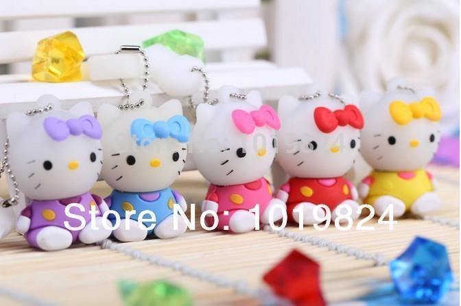 0!Best qualityA lot of capacity 2GB 4GB 8GB 16GB Cartoon lovely sitting position kt cat USB Flash Drives Pendrive USB Memory N13