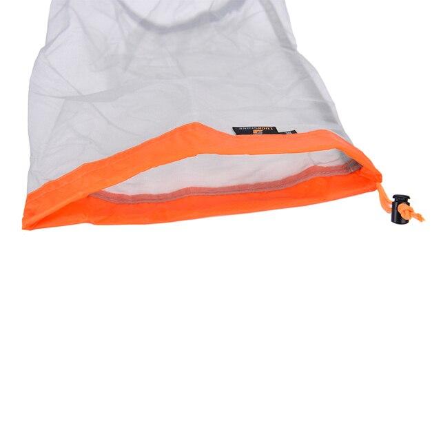 1Pc Portable Tavel Mesh Stuff Sack Drawstring Bag Travel Kit Accessories  5 Sizes 5