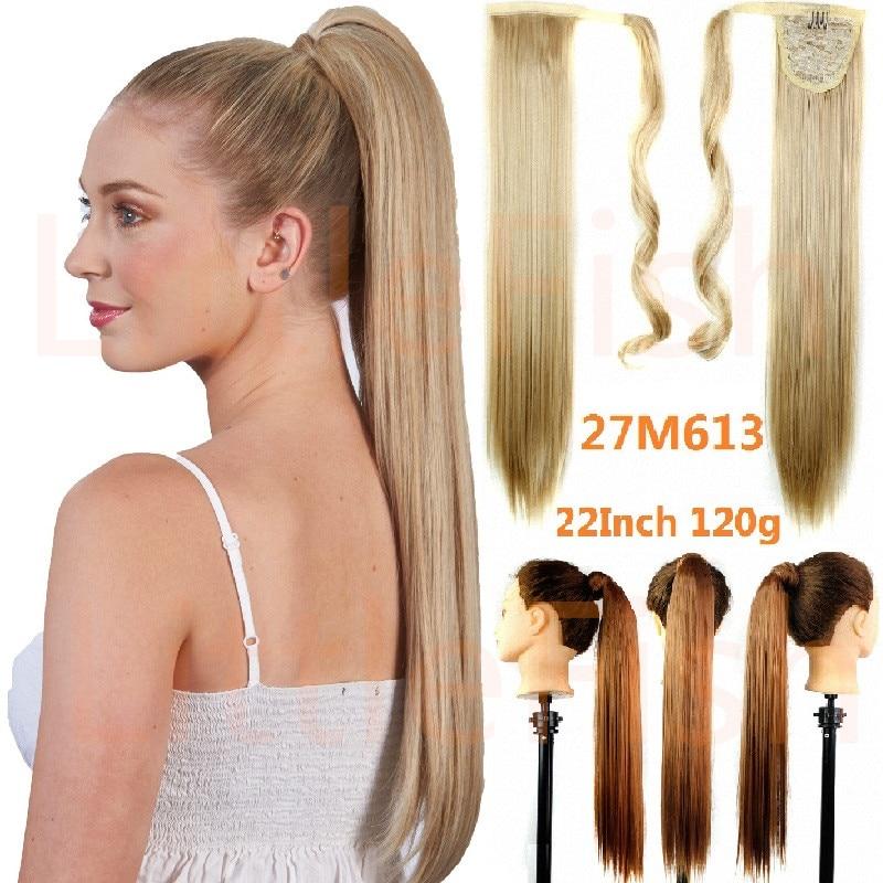 fake hair ponytail long straight