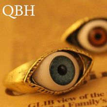 G063 New Christmas Gifts Blue Evil Eyes Steampunk Vintage Retro Punk Style Wedding Party Ring Vintage anel anillo femenina(China)