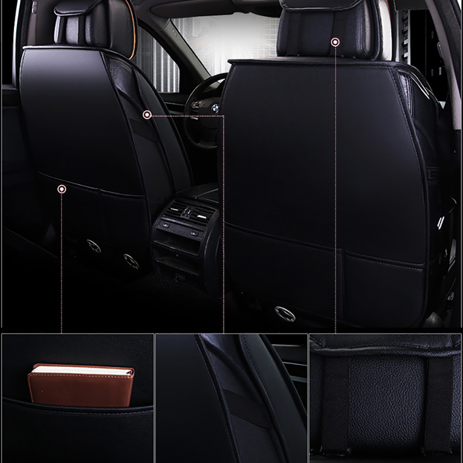 HeXinYan Leather Universal Car Seat Covers for Geely Emgrand EC7 GX X7 FE1 car styling automobiles Interior auto Cushion in Automobiles Seat Covers from Automobiles Motorcycles
