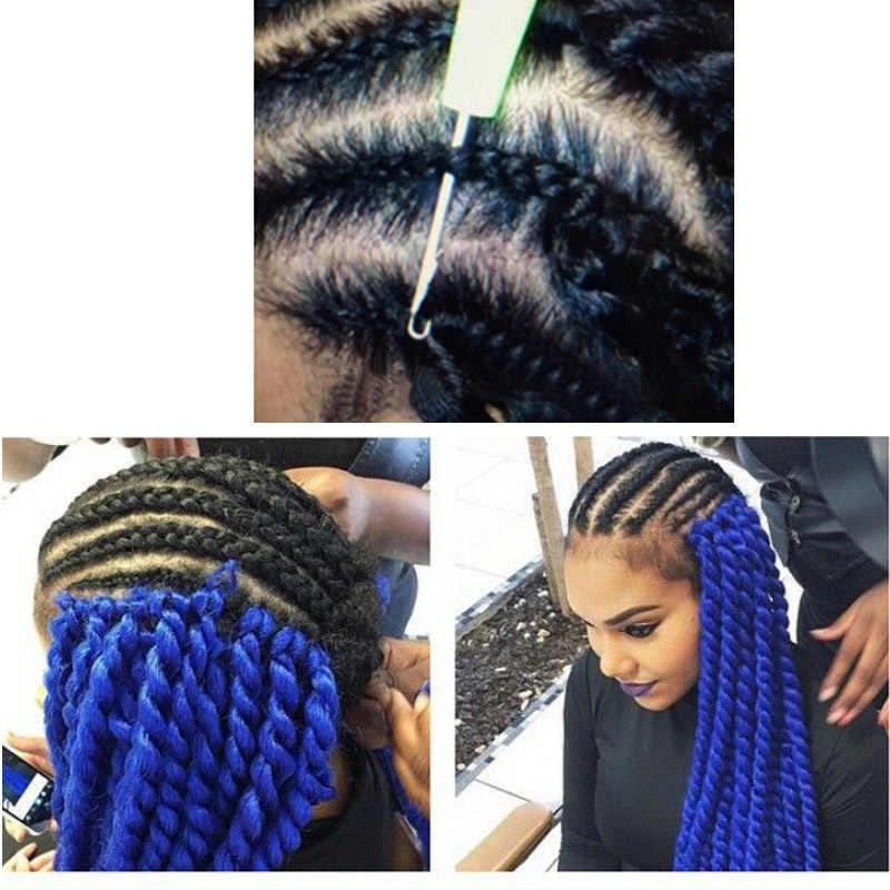"""Jeedou вязанные косички натуральные синтетические волосы длинные 24 """"100 г/лот синий розовый цвет DIY плетение прически креативные волосы"""