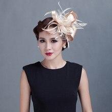 Feminino cocktail chique fascinator chapéu igreja headpiece casamento moda headwear lady party formal acessórios de cabelo