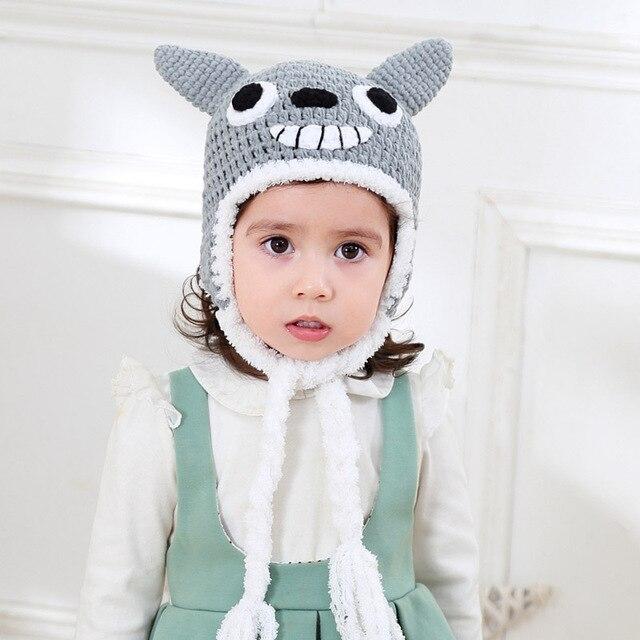 Bebé sombrero del invierno del ganchillo Cartoon Totoro gorro para ...