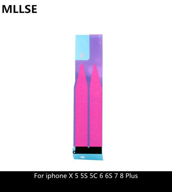 16c5c8ac54d 2 pcs Da Bateria Etiqueta Adesiva Para o iphone X 5 5S 5c 6 6 s 7 8 ...