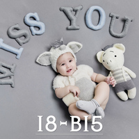 Toddler Baby Girl Boy Photography Pig Rompers Hat Sets Clothes Baby Photo Shoot Backdrop Outfits bebe fotografia Props Accessory