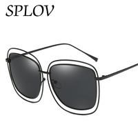 2017 New Hollow Polarized Oval Sunglasses For Women Ray Sun Glasses Girls Glasses Fashion Mirror Vintage Retro Metal Eyeglasses