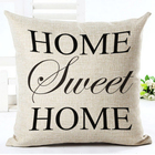 Romantic Words Quote Pillow Cases Home Decor PIllow Case Cotton Linen Cushion Cover Letter Pillow Cover for Home Sofa Decoration