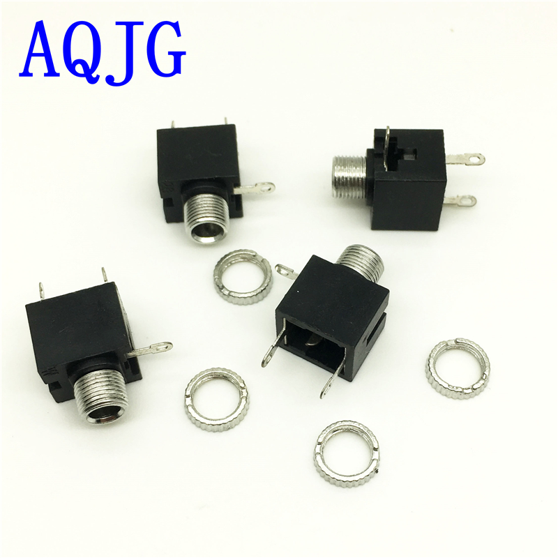 20Pcs 3.5mm Female Audio Connector 3 Pin DIP Headphone Jack Socket PJ-316