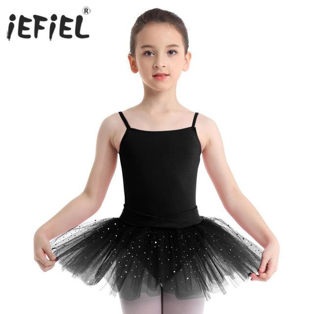 a78359cfe iEFiEL Kids Professional Ballet Tutu Dress Bowknot Diamond Tulle Ballet  Dancewear Gymnastics Leotard for Girls Dance Class Dress