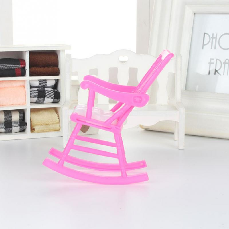 Mini Rocking Chair Accessories for Doll House Room Decoration Furniture Children Girls Toy Gift
