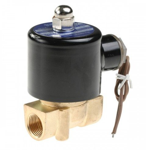 Free Shipping 5PCS Brass 2 Way NC Switch Magnetic Solenoid Valve 3/8 2W040-10 DC12V dc 12v 3w 2 positions 5 way magnetic solenoid valve 4v210 08