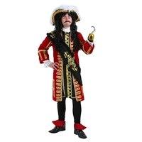 Ирек Горячая Хеллоуин костюм вечерние Карибский пиратский Косплэй костюм High End взрослых молния Pirate Captain производительность Костюмы