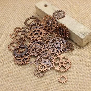 Mezclar 100 Uds cobre antiguo encantos de bronce antiguo colgante collares y pulseras que ajustan Metal bricolaje joyería