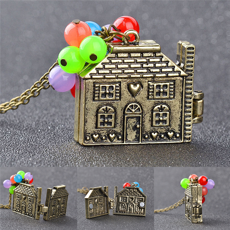 2018 New Movie Balloon House Up Necklace Colorful Beads Pendant Long Box Can Be Opened Beadwork Party Child Gift image