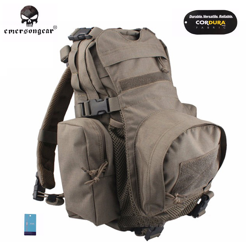 Emersongear Yote Rucksack Hydration Tactical Bag 1000D Cordura Molle Military Tactical Backpack Shoulder Hunting Bag FG emerson yote rucksack hydration tactical bag 1000d cordura molle military tactical backpack shoulder hunting bag highlander