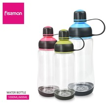 Фиссман бутылка для воды 600 мл 1000 мл Спорт на открытом воздухе ползунки путешествия школа посуда с крышкой Пластик бутылка питьевой воды
