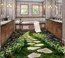3d обои на заказ водонепроницаемый 3d полы ванной комнатой спальня 3 d пол цветы путь картины 3d фрески на стенах обои
