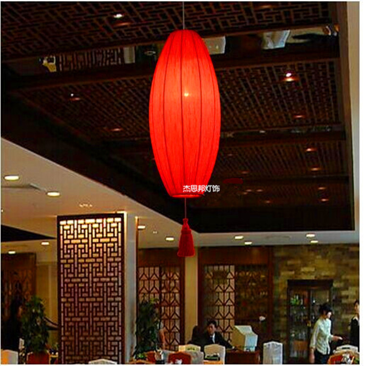 Chinese Lantern restaurant retro fabric long hallway bedroom hotel – Chinese Lantern Chandelier