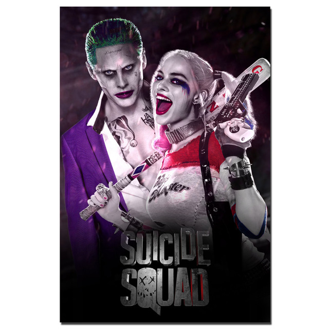 b2a48b147ef2 Suicide Squad Joker   Harley Quinn Posters Canvas Print Wall Art for Home  Decor