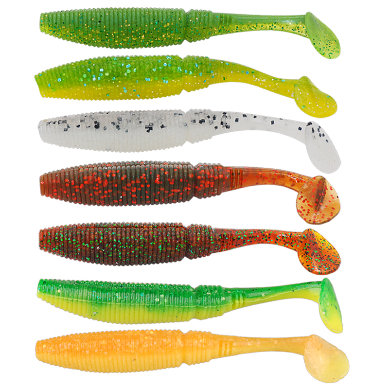 Free shipping 15pcs soft bait 7.5cm 3.8g fishing lure iscas artificial para...