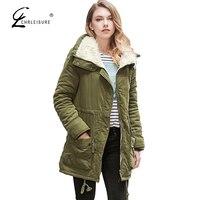 CHRLEISURE 2017 Winter Paka Jacket Women Warm Thick Coat Fashion Plus Size Outerwear Women Zipper Parkas