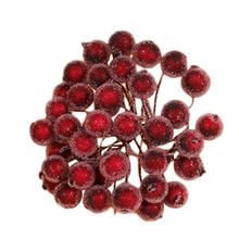 40PCS Artificial Mini Foam Christmas Frosted Fruits Mulberry Pulps DIY Handcraft Accessories Inventory clearance Random Color