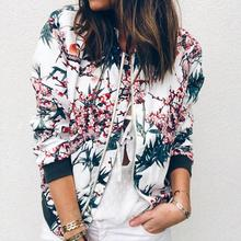Outerwear & Coats Jackets Womens Ladies Retro Floral Zipper