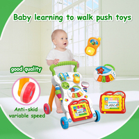 Multifunction Baby Trolleys With Musical Instrument Light Drawing Board Baby Toys Baby Learn To Walk Walker
