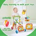 Carros multifunción Bebé Paseo en el coche con el instrumento Musical luz tablero de Dibujo Del Bebé juguetes del bebé Aprender a caminar Walker Carritos