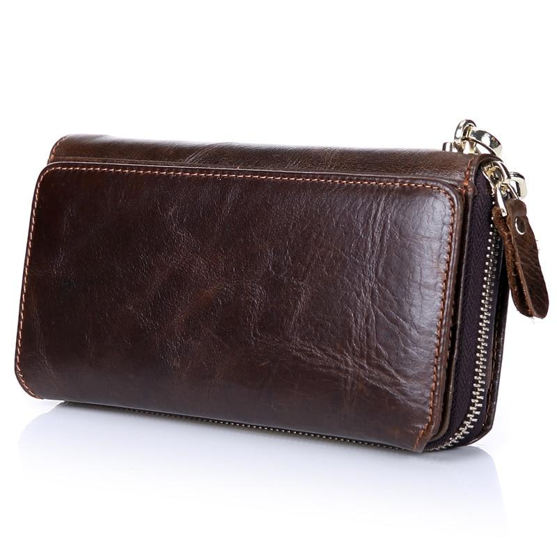 Мужской кошелек из натуральной кожи, деловой Ретро Роскошный бренд, мульти держатель для карт, s кошелек, длинные бумажники, кошельки для монет, держатель для карт TMS75