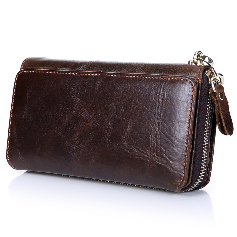 Genuine leather Men's wallet Business Retro Luxury Brand Multi Card Holders Purse Long Wallets Coin Purses card holder TMS75 new arrival 2017 wallet long vintage man wallets soft leather purse clutch designer card holders business handbags clips