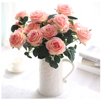 The Bouquet Of 10 Heads Of Rose Flores Bouquet Home Wedding Decoration Fake Flower The Bouquet
