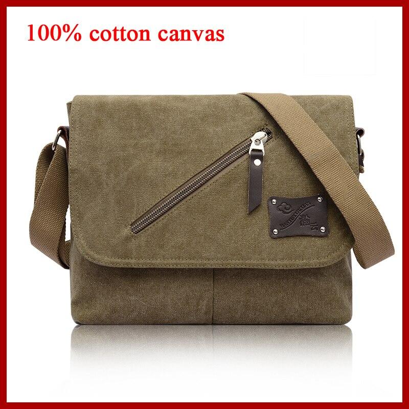 I AM LEGEND Vintage men messenger bags military army leisure 100% cotton canvas men retro bolsas men's travel bags satchel bag casual canvas satchel men sling bag