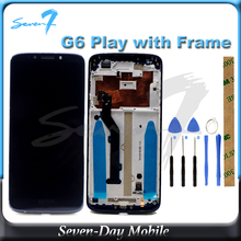 100% Tested LCD Screen For Motorola Moto E5 G6 play XT1922 XT1922-3  LCD Display With Touch Screen Assembly 5 8 inch lcd for motorola moto e5 play go xt1920 lcd touch screen glass panel replacement display free shipping