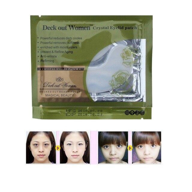 20pcs Deck Out Women Crystal Eyelid Patch Anti-Wrinkle Crystal Collagen Eye Mask Remove Black Eye Post Free Shipping