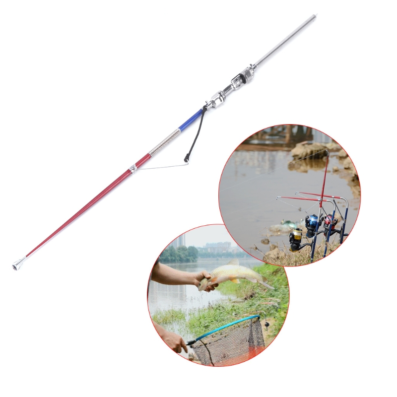 63cm Fishing Rod Automatic Pole Stainless Steel Portable Sea Lake River Sensitive Fishing tools-in Fishing Rods from Sports & Entertainment