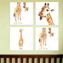 Haochu скандинавский милый жираф домашнее украшение холст картина