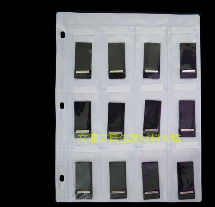 12 Pockets Samples Bag,A4 Multi Sample, Multi Display Bag, A4 Plastic Bag, Free Shipping