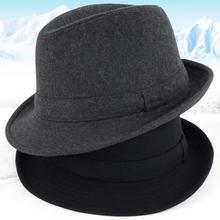 2018 nueva llegada Otoño e Invierno de los hombres de edad avanzada lana sombreros  hombre grueso 34ce1a09cf0