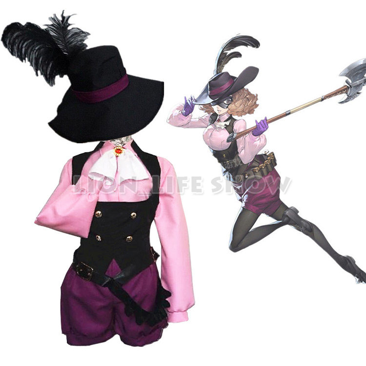 PERSONA 5 P5 Haru Okumura Noir Outfit Uniform  Cosplay Costume With Hat Full Set