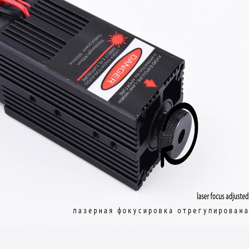 Modulo laser blu da 5,5 w 450 nm, parti di macchine per incisione - Parti di macchine per la lavorazione del legno - Fotografia 3