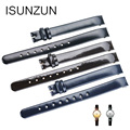ISUNZUN Women Watch Band For CK K4323209/K4323216/K4323100 Genuine Leather Watchband Christmas Gift 10MM Watch Strap For CK