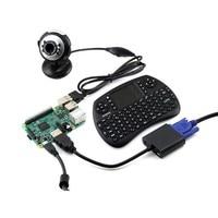 Waveshare Raspberry Pi 3 Model B Development Kits Camera Mini Wireless Keyboard Micro SD Card RPi3
